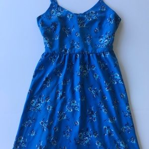 Ann Taylor Loft Blue Floral Fit and Flare Dress  2